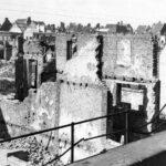 En av många bombskador i Liège