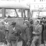 1947 belgien I och ur bussen